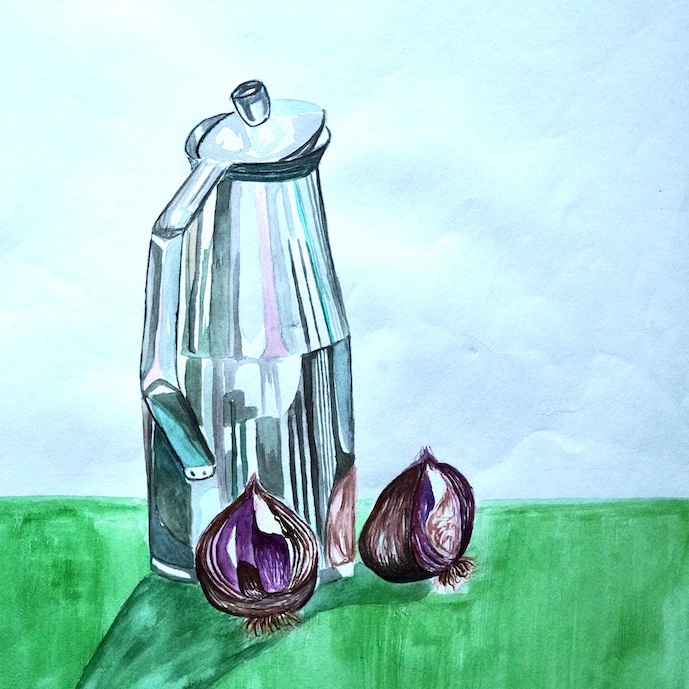 Water Jug and Onions Painting
