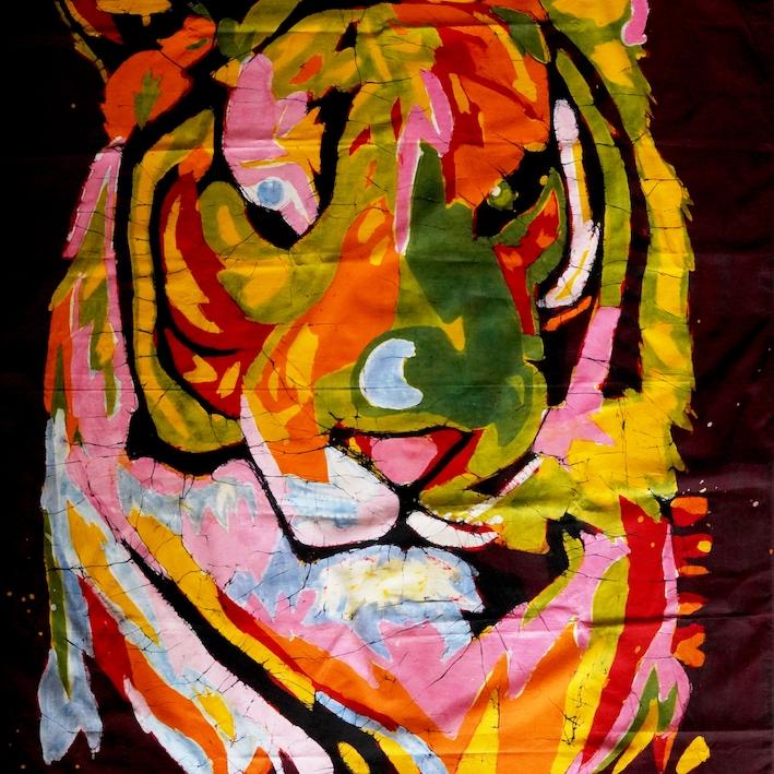 Tiger Portrait Batik