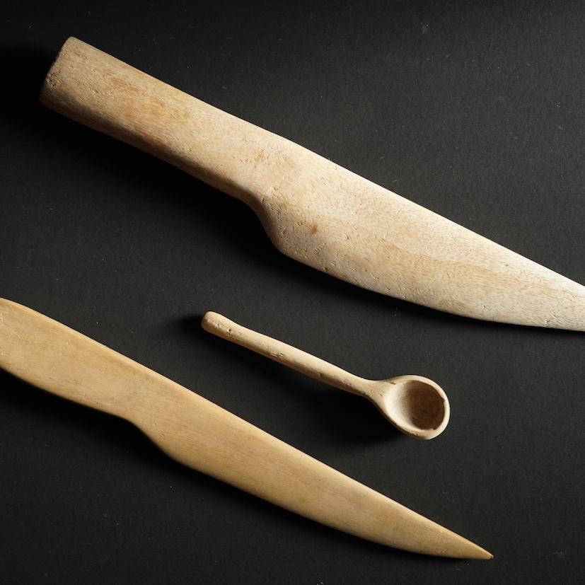 Knife and Spoon Woodwork Akash Mallige Wood