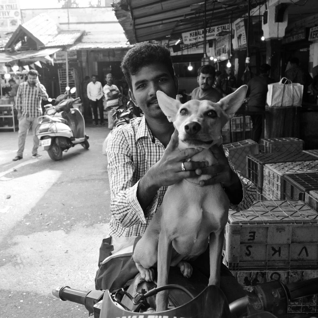 Man and dog on a bike