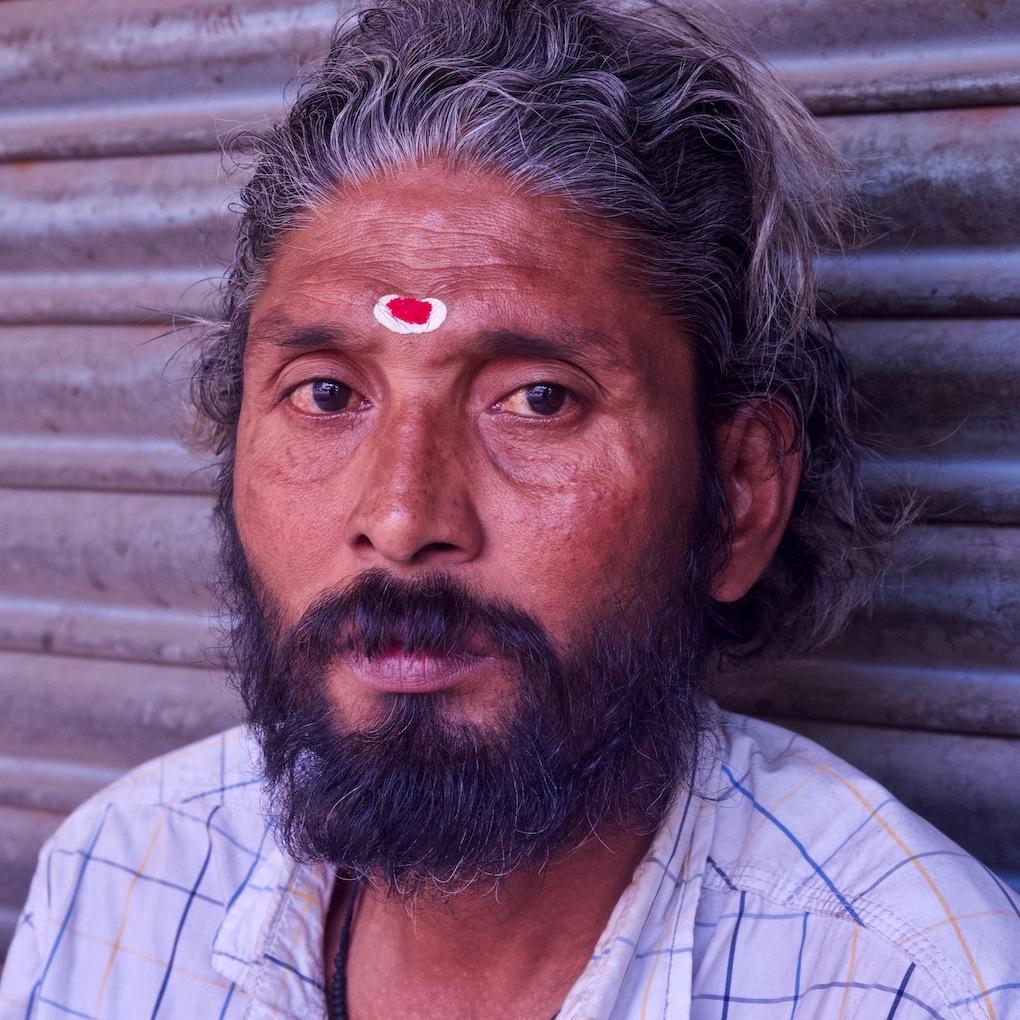 Indian religious man